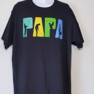 "Black golf ""PAPA"" short sleeve shirt size 3XL"